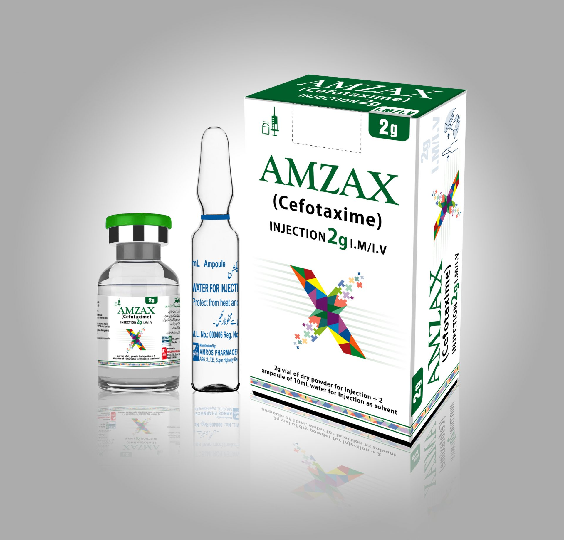 Amzax 2g Dry Powder Injection (Cefotaxime)
