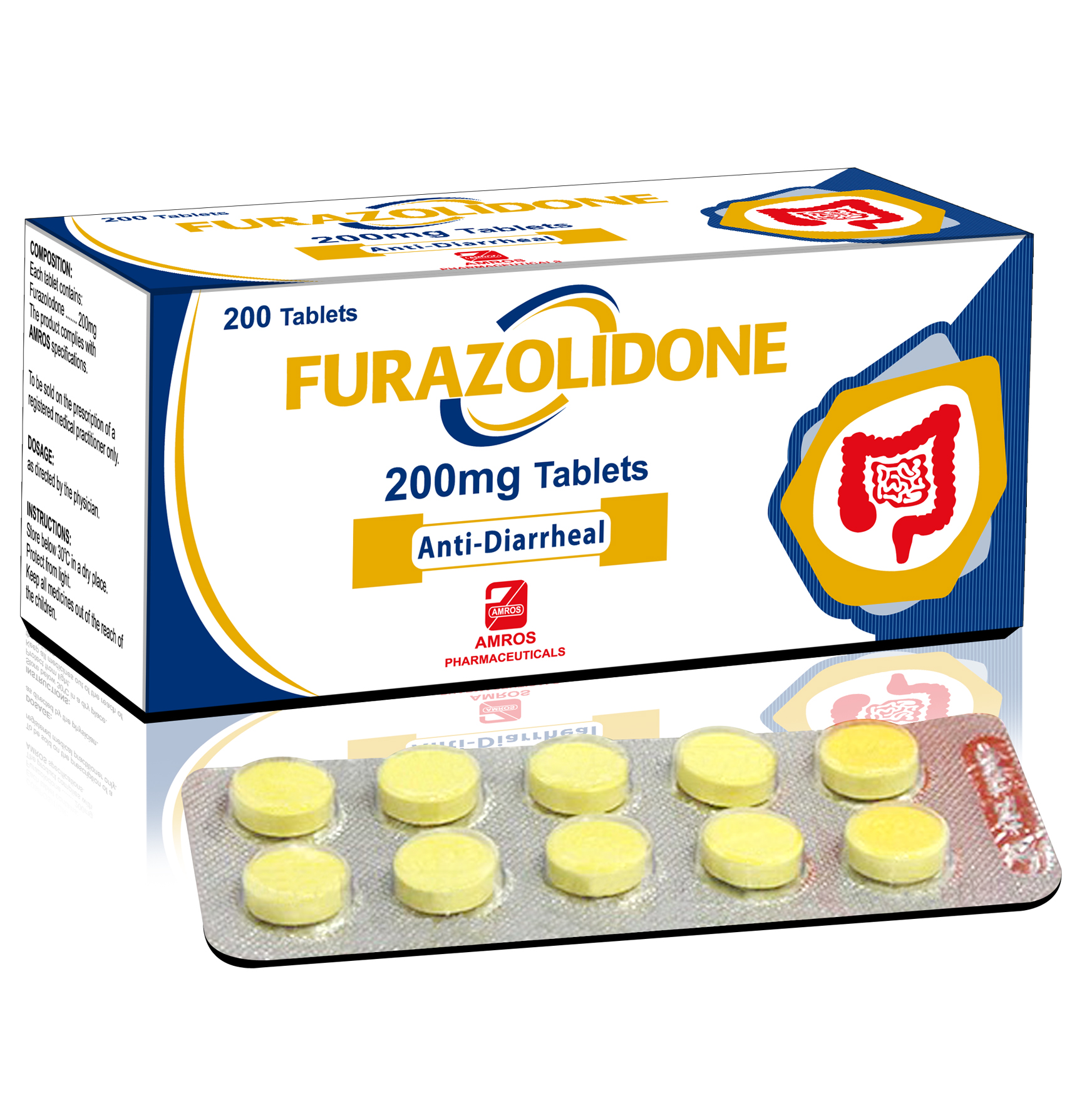 FURAZOLIDONE 100mg Tablet