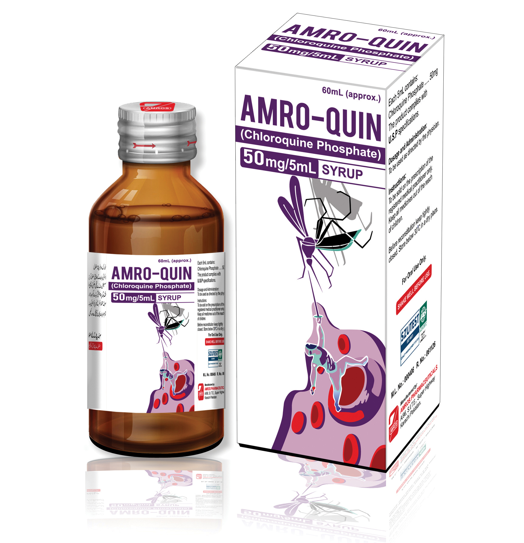 Amro-Quin 50mg/5mL Syrup